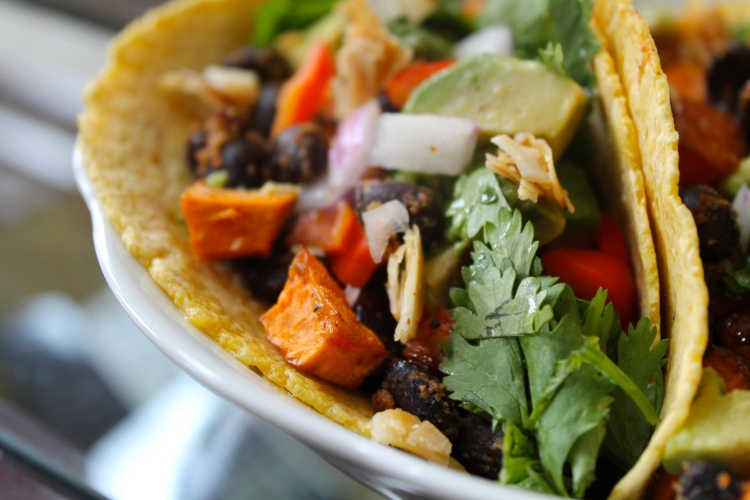 Vegan Street Tacos ~ Sweet Potato and Black Bean Tacos