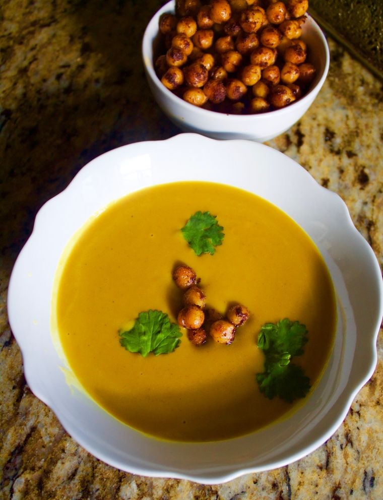 Vegan Coconut Curry Sweet Potato Soup